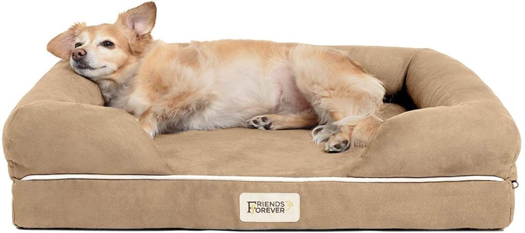 Friends Forever Orthopedic Dog Bed Lounge Small Khaki Beige