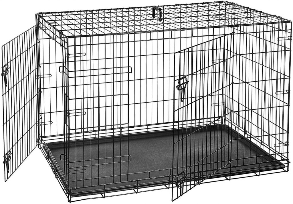 AmazonBasics Double Door Folding Metal Dog Crate