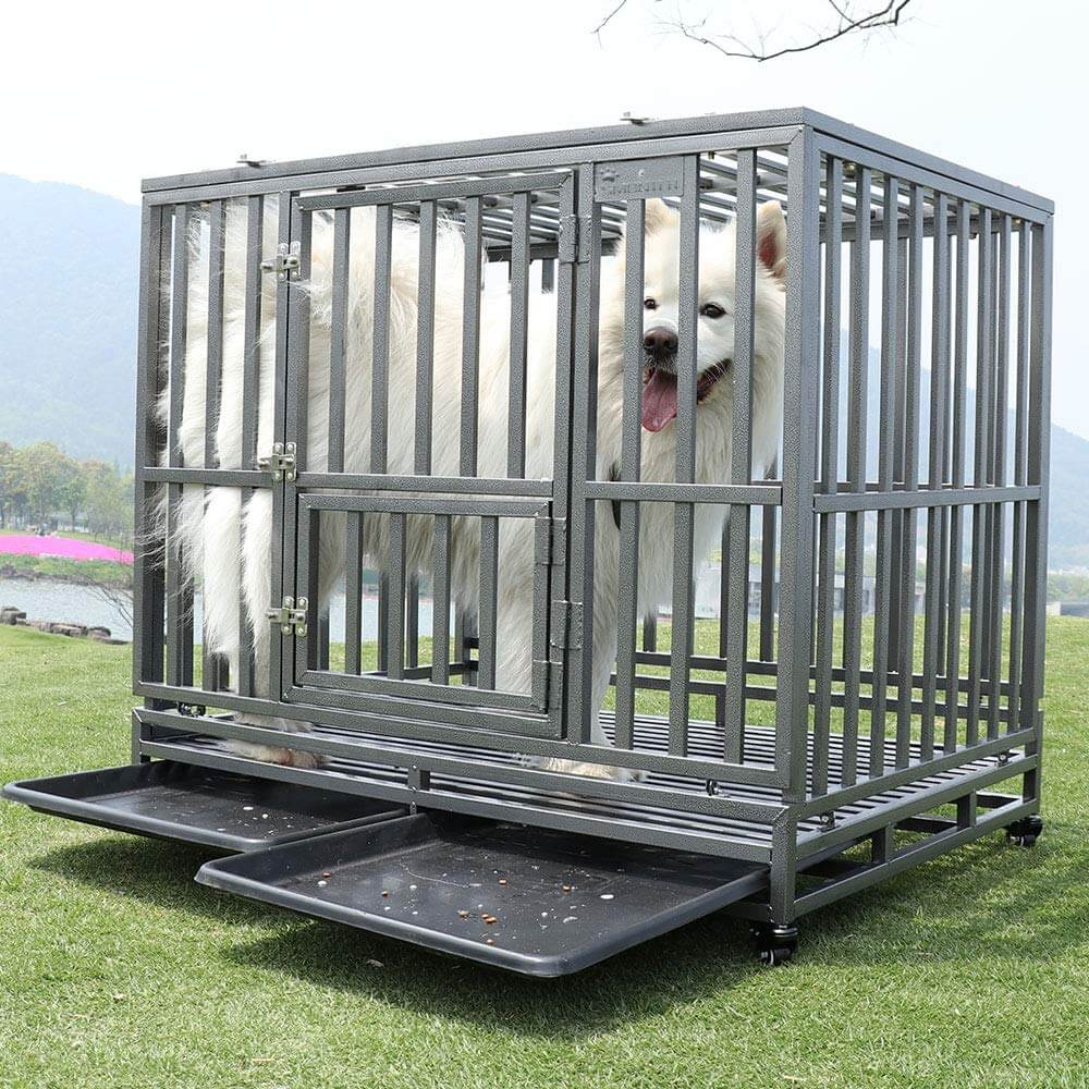 SMONTER Heavy Duty Dog Crate