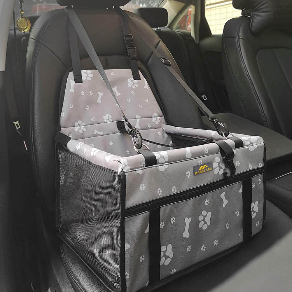 MARSLABO Dog Car Seat Gray