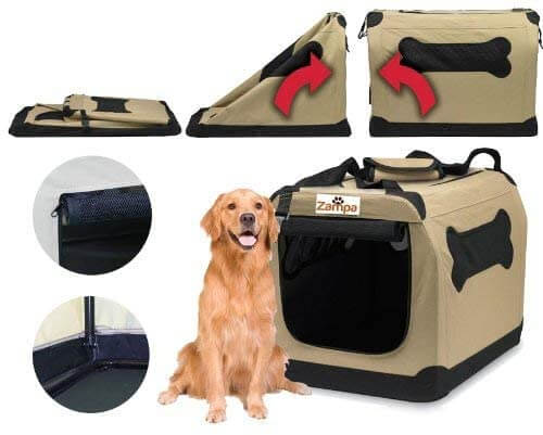 Zampa Pet Portable Crate Dog
