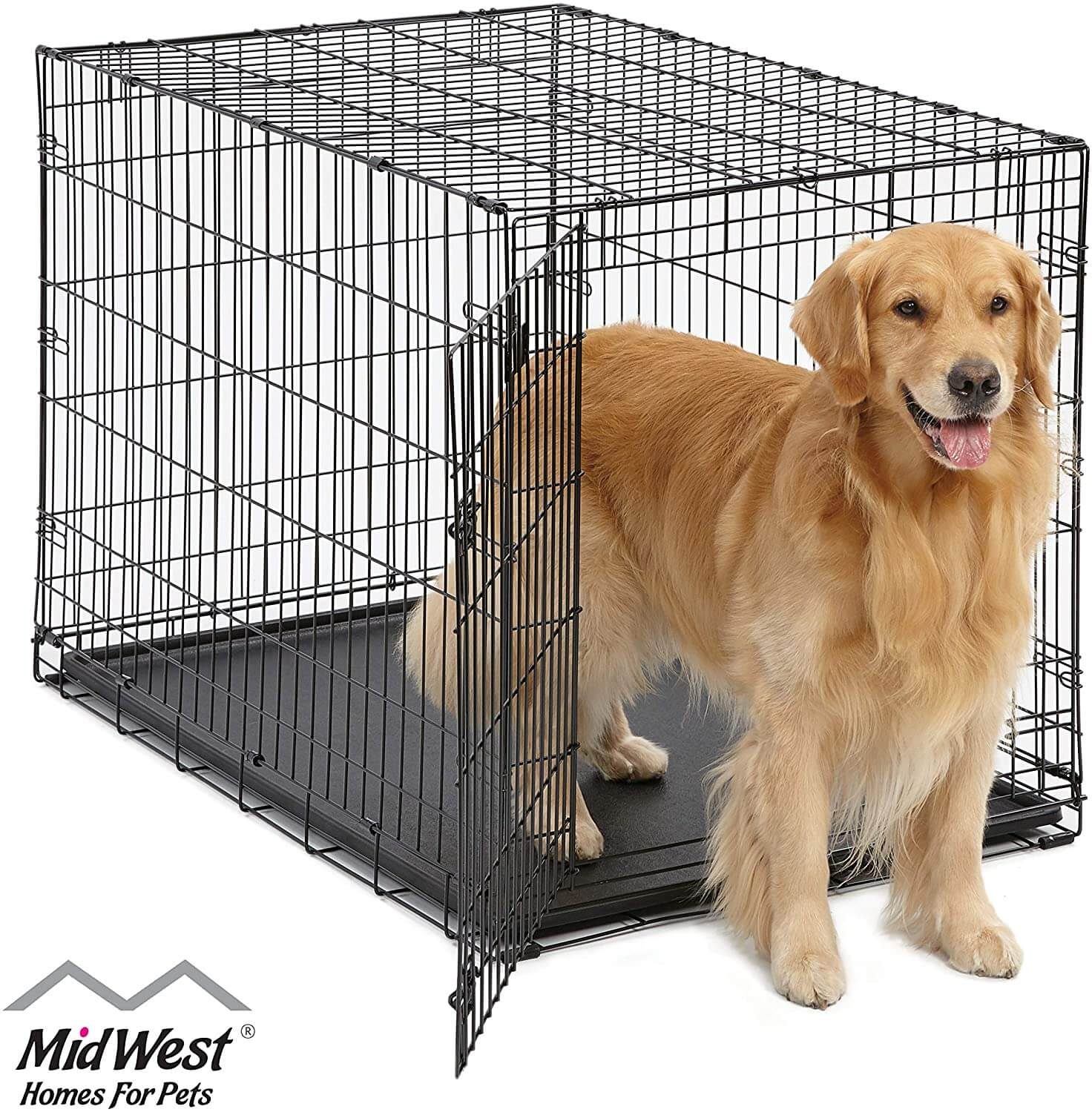 MidWest Homes for Pets 42 Inch Plus Divider Single Door
