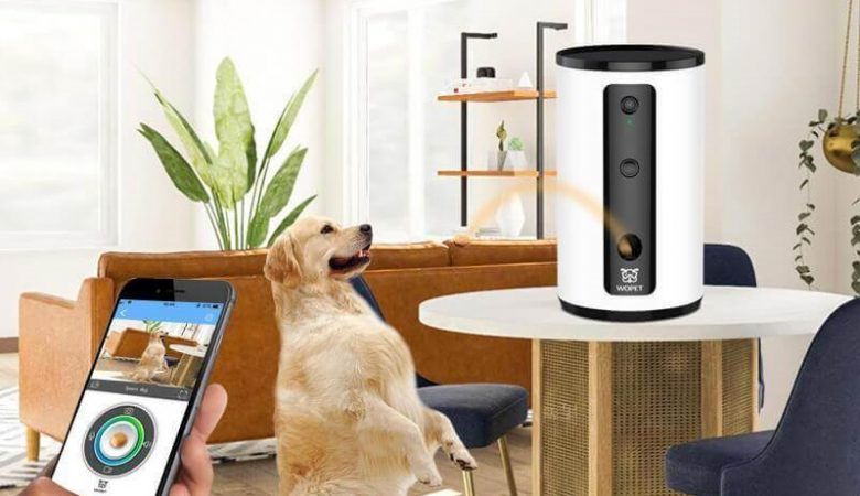 Best Dog Camera Treat Dispenser - WoPet Treat Tosser Smart Pet Camera