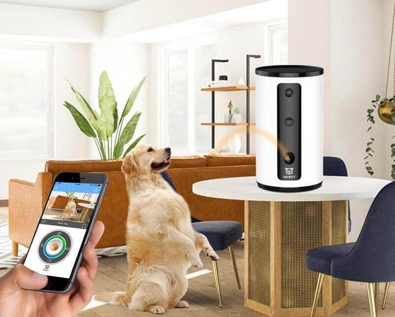 Best Dog Camera Treat Dispenser - WoPet Treat Tosser Smart Pet Camera